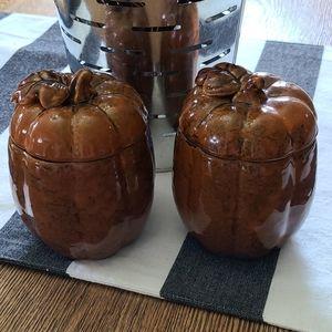 Pumpkin Butter / Ginger Jars with Lids Fall Decor